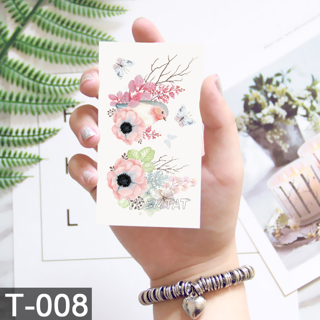 10.5x6cm Flowers rose lotus Design Fashion Temporary Tattoo Stickers Temporary Body Art Waterproof Tattoo Pattern Wholesales 2
