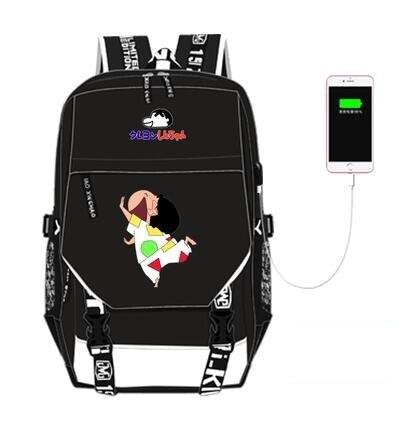 new hot sale High Q Anime crayon shin-chan backpack UNISEX student school bag preppy style usb charge backpacknew hot sale High Q Anime crayon shin-chan backpack UNISEX student school bag preppy style usb charge backpack
