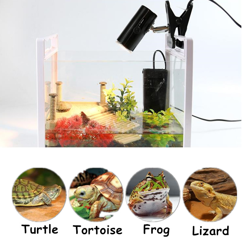 2 Style Aquarium Turtle Basking Light Holder Clip Uva Uvb
