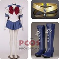 Best Set~ Sailor Moon Sailor Saturn Tomoe Hotaru Cosplay Costume & Shoes mp000307