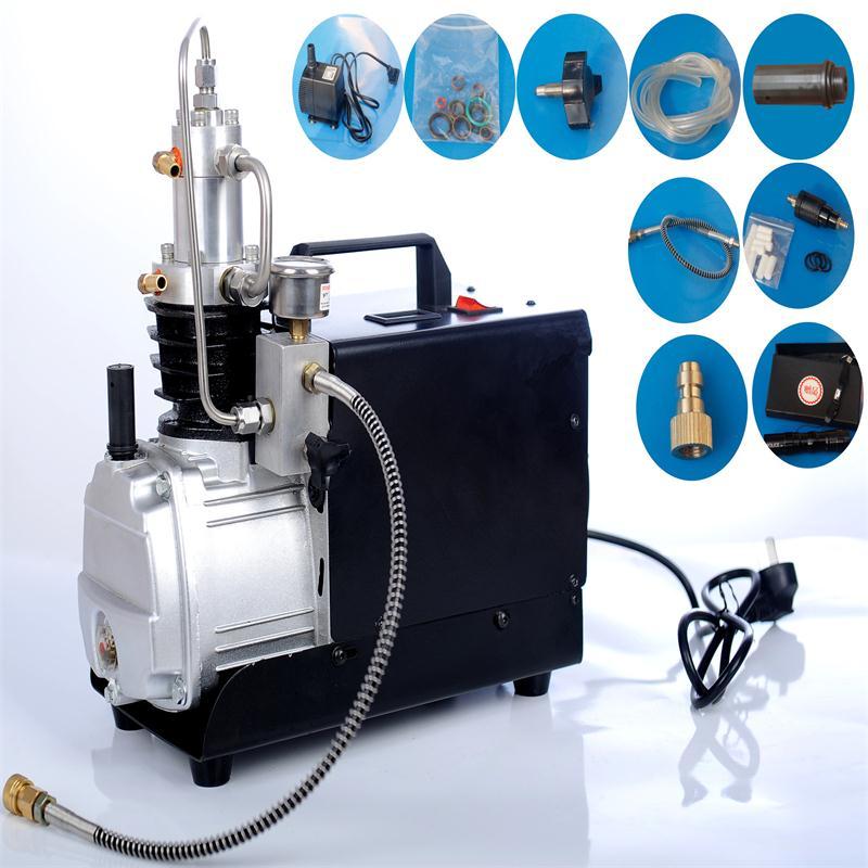 US $379 0 |220V50HZ 300bar compressor 4500PSI High Pressure Air Pump  Electrical mini Air Compressor for airgun scuba rifle PCP Inflator-in Pumps  from