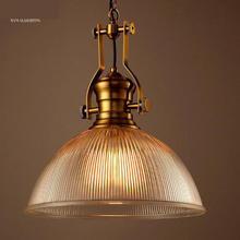 1 unids Vidrio Cocina Lámpara de American vintage lámpara Industrial Comedor cubierta de Cristal de cobre portalámparas Lamparas colgantes