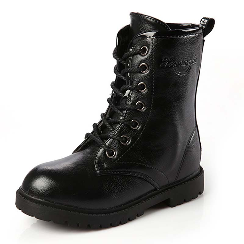 Online Get Cheap Black Leather Boots for Kids -Aliexpress.com ...