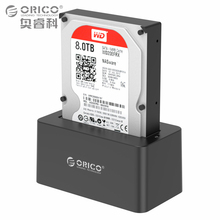 2.5/3.5 дюймов USB3.0 SATA жесткий диск Док-станция, Инструмент Бесплатная Дизайн с 12V2A Мощность адаптер Поддержка 8 ТБ max (ORICO 6619US3)
