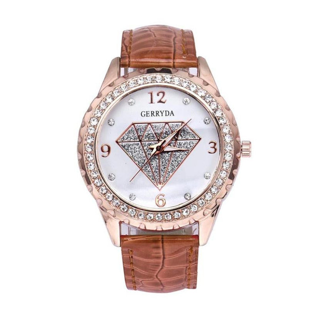 Women Contracted Fashion Rhinestone Leather belt Analog Quartz Watch elegant ladies dress watches female clock relojes mujer