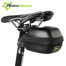ROCKBROS Carbon Pattern Waterproof Outdoor Sports For All Bike Bicycle Ciclismo Seatpost Cycling Cycle Portable Saddle Bag Case