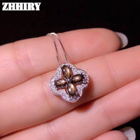 ZHHIRY Natural Star Sapphire Gemstone Necklace Pendant Genuine Solid 925 Sterling Silver Pendants Real Fine Jewelry