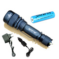 LED Flashlight torch 2500 Lumens CREE XML T6 5 mode zoomable rechargeable long-range tactical flashlight led for hunting light