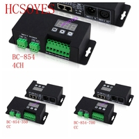 BC 854 350/BC 854 700/BC 854 CC/CV 4CH DMX512 Decoder 3 digital display DMX DMX512 controller signal drive Constant voltage