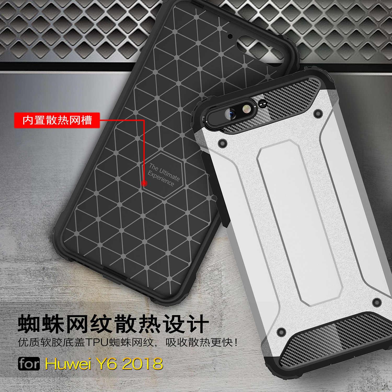 Wolfsay Caso Huawei Y6 2018 Della Copertura Resistente Armatura di TPU e Cassa del PC Per Il Caso di Huawei Y6 Prime 2018 ATU-L31 Huawei y6 2018 Del Telefono Fundas