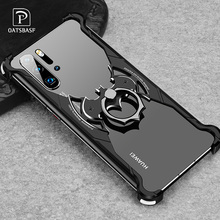 OATSBASF Luxury with bat ring holder Case For Huawei p30 for P30 Pro Shell case Slim Metal Bumper Back Cover