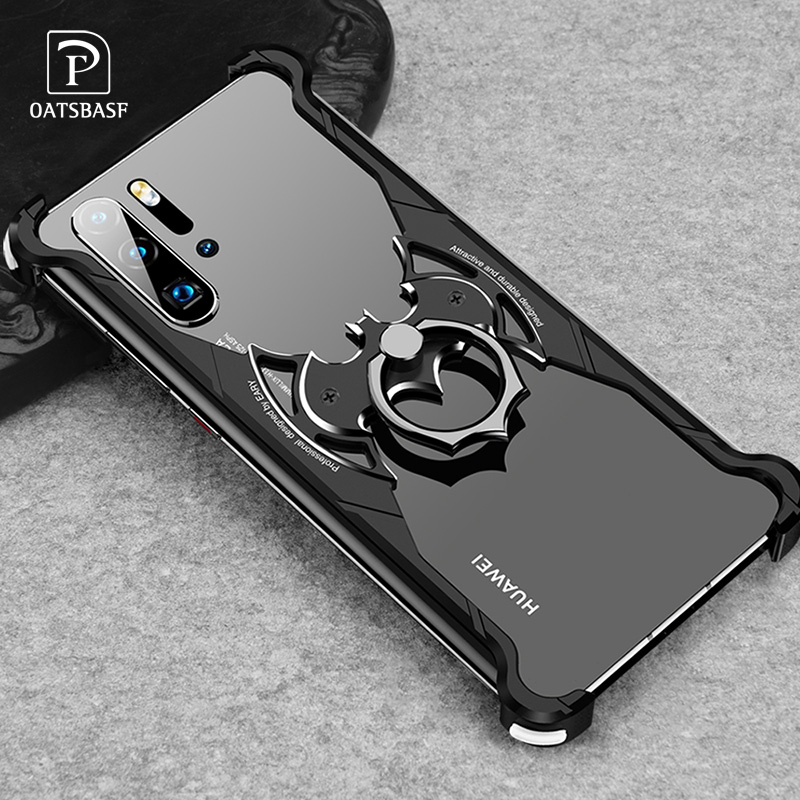 Image 2 - OATSBASF huaweip30 pro case for hua wei mate 30 pro case Luxury metal ring marvel 360 turnkey Original Bumper Back CoverPhone Bumpers   -