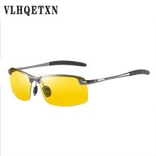 Men Driving Night Vision Glasses Photochromic Sunglasses Yellow Polarized Lens U