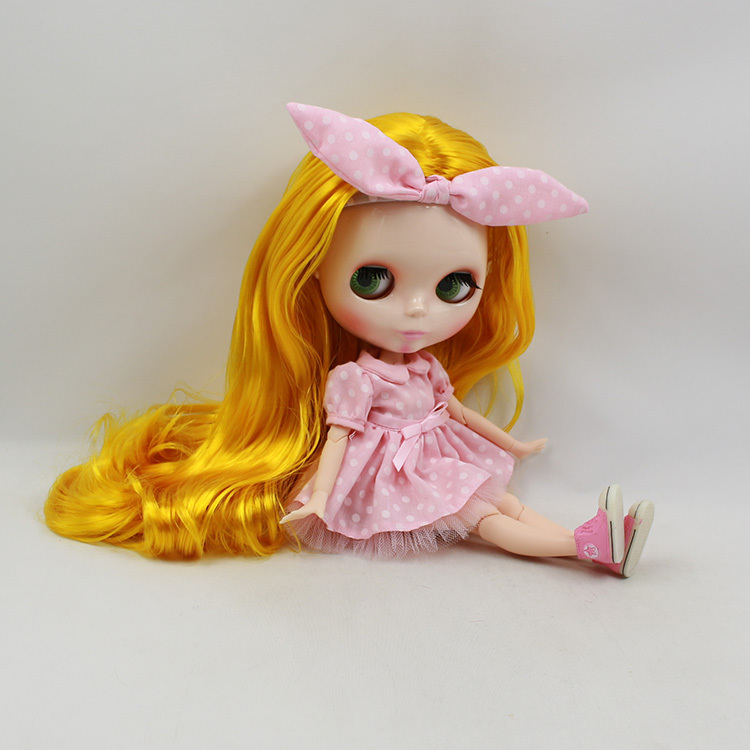 Neo Blyth Nude Doll For Series No.280BL3038 Joint body no bangs Golden Hair Suitable For DIY Change BJD Toy For Girls цены онлайн