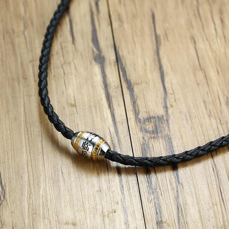 Religijne om mani padme hum uroku wisiorek naszyjnik dla mężczyzn modlitwa biżuteria na szczęście