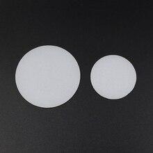 2 חתיכות 35mm 50mm 60mm 65mm 70mm 75mm 92mm 110mm פנס מפזר עדשת LED פנס לפיד DIY מסנן עדשת PC לבן צבע