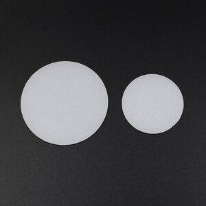 Image 1 - 2 adet 35mm 50mm 60mm 65mm 70mm 75mm 92mm 110mm el feneri difüzör lens LED el feneri meşale DIY filtresi PC Lens beyaz renk