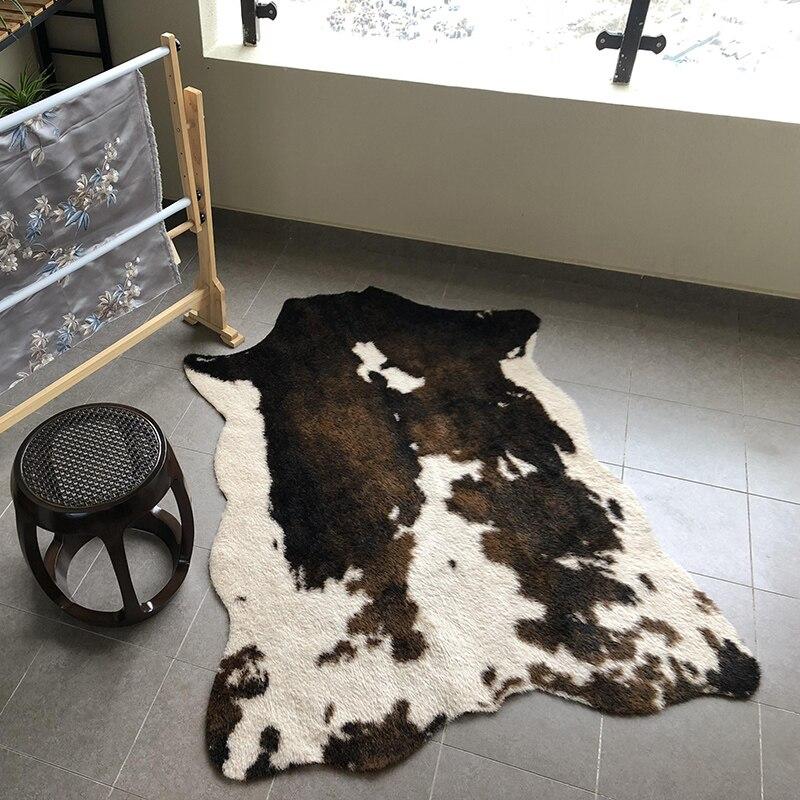 Vache artificielle zèbre imprimé léopard tapis grande taille faux vache cache tapis Animal imprimé zone tapis pour la maison salon tapis