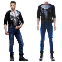 Marvel's Anti Hero Punish Frank Castle Cosplay Costume Outfit Men Women Halloween Carnival Cosplay Costume