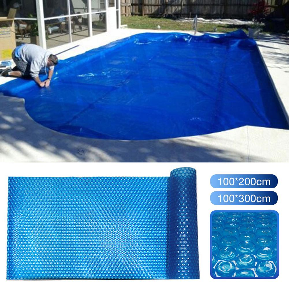 1pc 100*100cm 100*200cm 100*300cm Insulated PE Bubble Film Swimming Pool Cover Foldable Anti-UV Swimming Pool Dustproof Cover