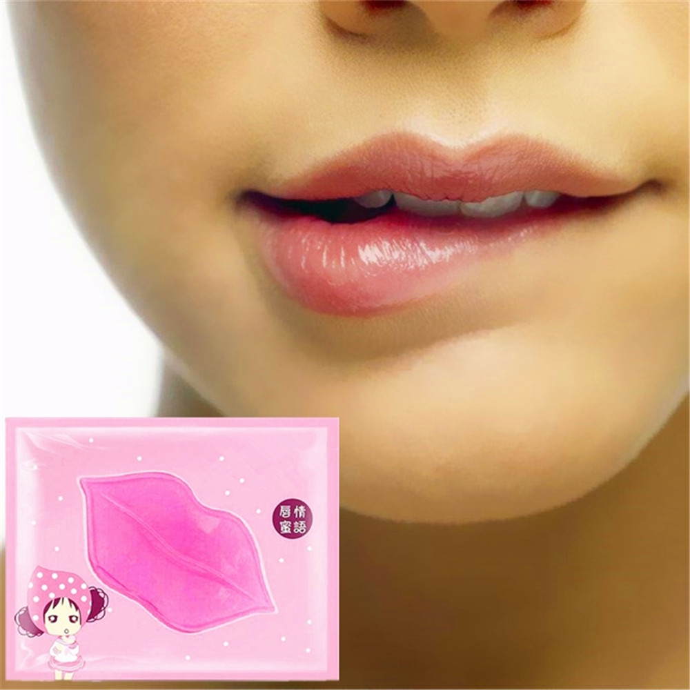 DISAAR 1pcs Women Crystal Collagen Lip Mask Moisture Essence Anti Ageing Wrinkle Patch Pad image