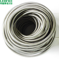 FP159160 100M(328ft) 304 SS Braided Water Supply Hose & SS Hose Supply