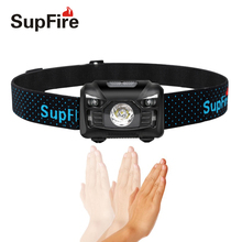 Headlamp Flash Light Linterna LED Supfire HL06 USB Flashlight on the Head Bike Torch for Olight Surefir Nicron A047