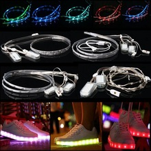 Waterproof 60CM USB Battery 18/20/23/24 RGB LED Strip Light SMD 3528/5050/2040 Dream Color Horse Race Lamp Strip Shoes Light