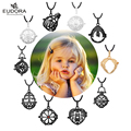 Diverse Vintage Locket Black/ Silvery/ Golden Pendants Cage Fit For 16/18/20mm Eudrora Harmony Ball Chain Necklace Box Pendant