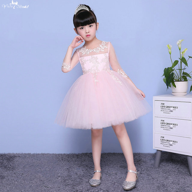 35951e600 TF002 Long Sleeve Princess Ball Gown Kids Beauty Pageant Dresses-in ...