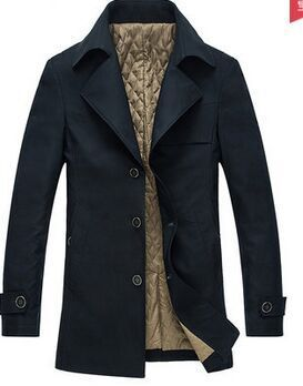 Мужская верхняя одежда& пальто новое поступление весенний хлопковый плащ-Тренч, верхняя одежда, средней длины Блейзер Большие размеры M L XL XXL 3XL 4XL 5XL 6XL 7XL 8XL - Цвет: cotton padded black
