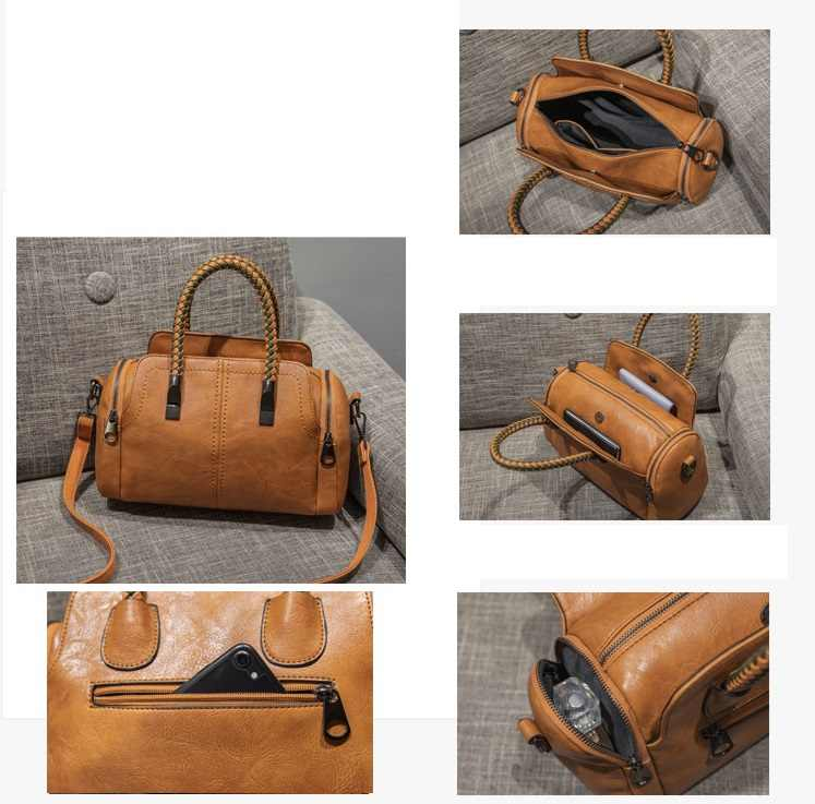 ヴィンテージ革の女性のハンドバッグの女性のメッセンジャーバッグトートバッグタッセルデザイナークロスボディショルダーバッグボストンハンドバッグホット販売C809