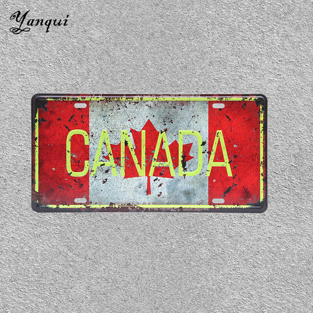 University of Toronto Lisence Plate Canada Vintage Retro Tin Signs ...