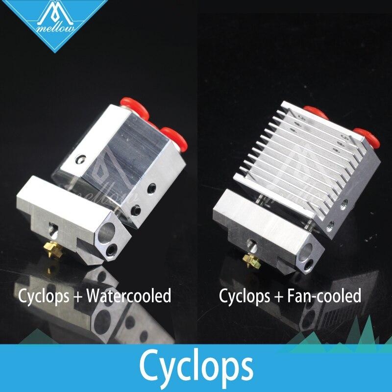 Moelleux 3D imprimante pièces V6 Cyclope +/Chimère + plus Multi-Extrusion Couleur 2 Dans 1 À j -tête HotEnd kit pour titan double extrudeuse