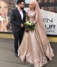 Sexy Elegant Women Formal Gala Party Long Dress Plus Size Arabic Muslim Gold Long Sleeve Evening Prom Dresses Gown 2019 цена