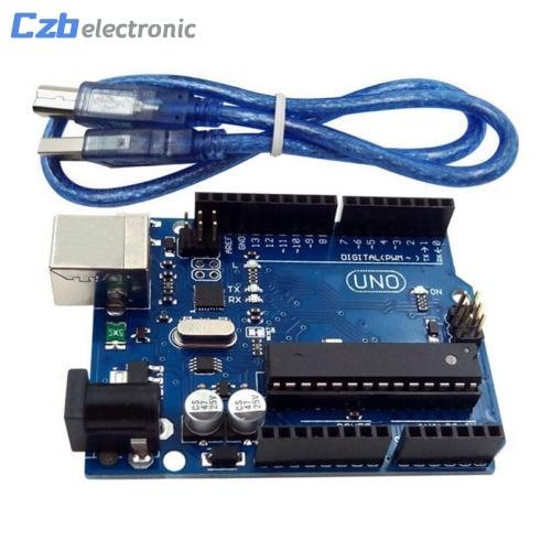UNO R3 I/O FAI 3.3 V 5 V Développement ATmega328P MEGA328P Atmega16u2 Pour Arduino Module Compatible Avec USB Câble