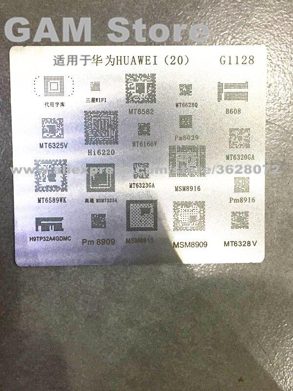 US $1 2  For Huawei BGA Stencil MT6582 6166V 6325V 6323GA PM8916  H9TP32A4GDMC B608 503 eMMC Reballing Pin Direct Heating Template G1128-in  Welding