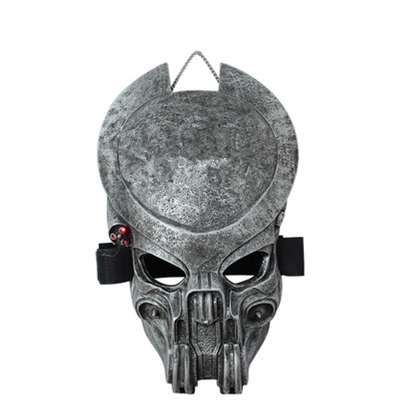 Alien Vs Predator Alien Mask Full Face CS Halloween Party Cosplay Wargame Tactical Mask Decoration Collectible Film Props L1786 hellboy mask breathable full face mask kroenen helmet halloween cosplay horror helmet karl ruprecht kroenen halloween props w153