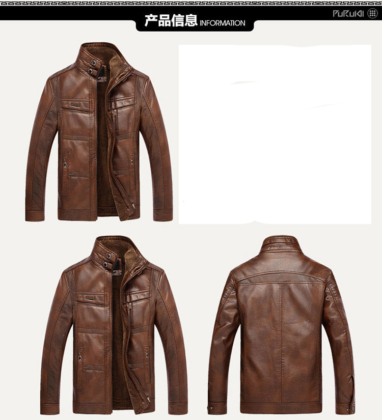 HTB11DPjaLfsK1RjSszbq6AqBXXaj XingDeng PU Brand High Leather Jacket Men Coats plus 5XL Quality Outerwear Men Business Winter Faux Fur Male top clothes Fleece