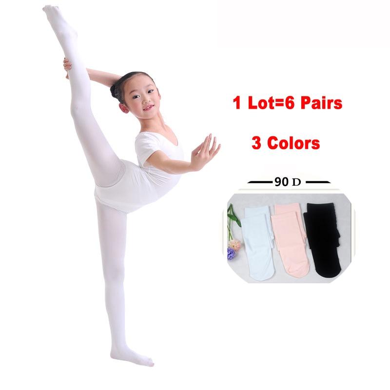 Summer White Nude Children Kids Girls Proffessional Dance Ballet Tights Soft -1964
