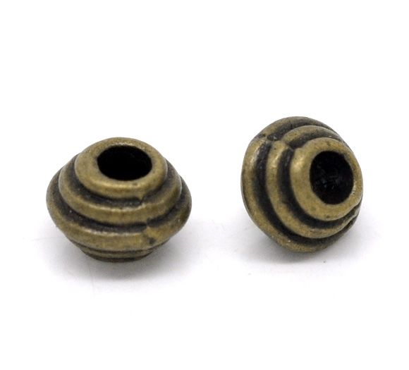 DoreenBeads Antique Bronze Spacer Beads 6x5mm,sold per pack of 100
