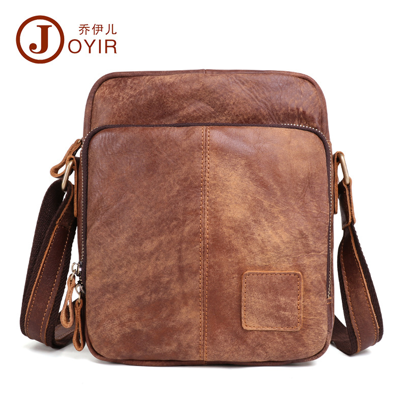 c7dd16bd2c Joyir Men Messenger Bag Genuine Leather Casual Travel shoulder bag Fashion  Shoulder Bags For Men brown