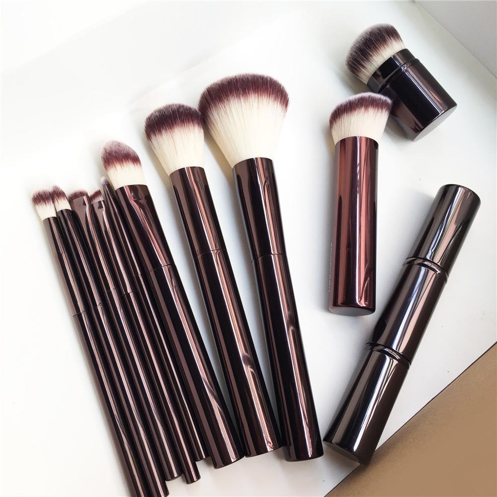 HG SERIES Powder Blush Allover Shadow EYE Crease Concealer Angled Liner Smudge Retractable Kabuki Makeup Brushes