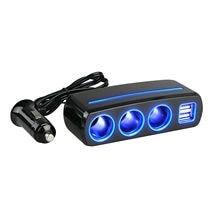 4 way car power splitter lighter socket with usb port Car Charger Dual USB Port Splitter 12V-24V Socket Power Cigarette Lighter Outlet