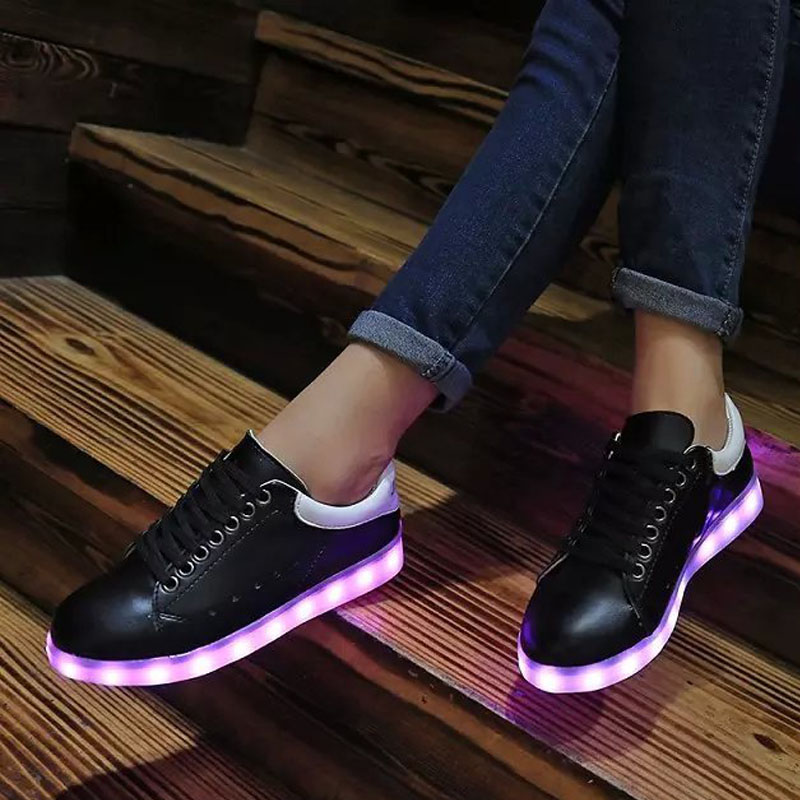 Mixed Color Led Light Up Shoes Women Platform LED Luminous Ladies Shoes  Black White Glowing Shoes New-in Men s Casual Shoes from Shoes on  Aliexpress.com ... 18c7a5210
