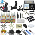 OPHIR 346Pcs/Set Pro Tattoo Kits for Body Tattoo Art  Dragonfly Tattoo Machine Guns 12Colors Tattoo Inks Needles Grips _TA070