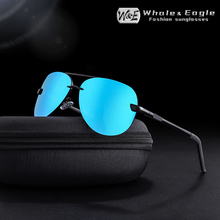W&E Aviation Alloy Frame Sunglasses Mens Classic Driver Polarized Coated Lens Pilot Brand Design Ladies UV400 Cool