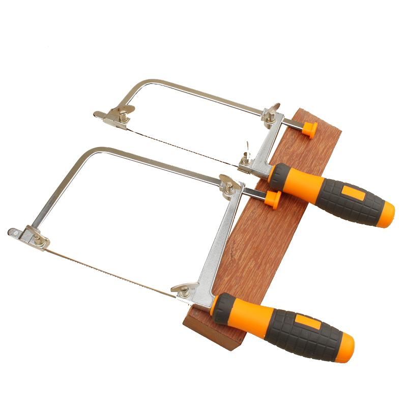 New coping saw with 5 blades rubber handle jewelers saw mini table saws woodworking hand saw 12pc diy woodworking saw scroll blades coping metal tool 130mm scroll saw saw blades size choice 1 8