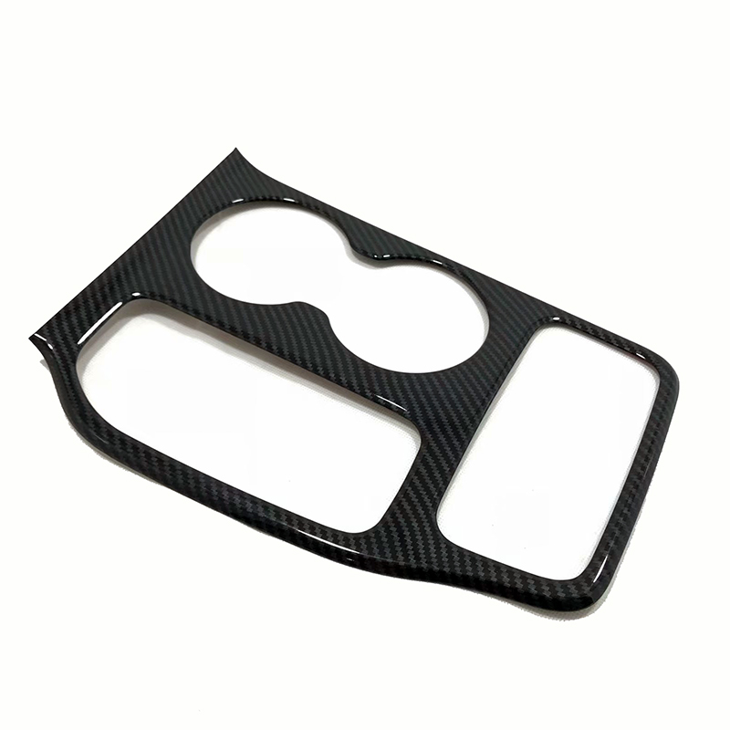 For 2018-2019 Jeep Grand Cherokee Carbon Fiber Water Cup Holder Panel cover trim