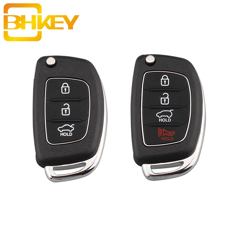 BHKEY 3/4 Buttons Replacement Folding Car Key Shell For Mistra Hyundai HB20 SANTA FE IX35 IX45 Accent I40 Remote Key Case Fob(China)